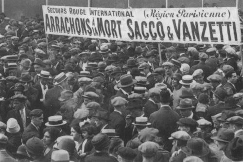 Manifestation pour Sacco et Vanzetti