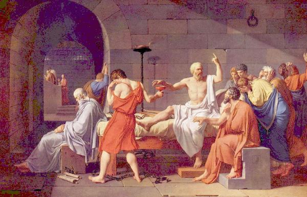 La mort de Socrate, par David
