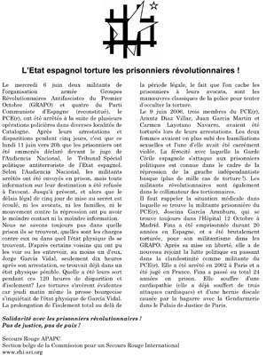 Tract pour les prisonniers espagnols