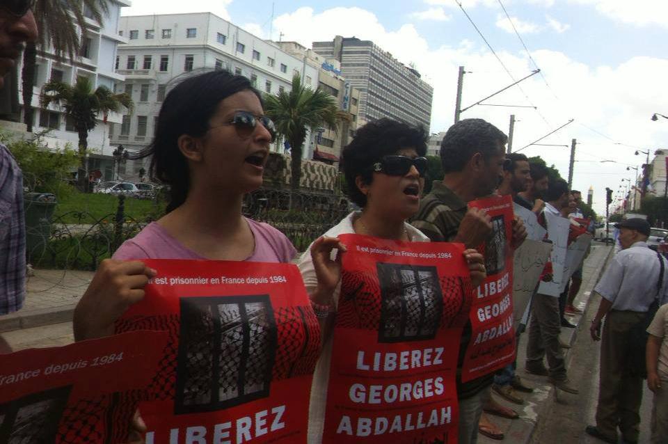 Ambassade France à Tunis Manifestation Georges Ibrahim Abdallah