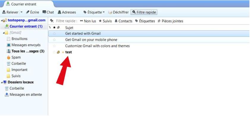 Décrypter un mail