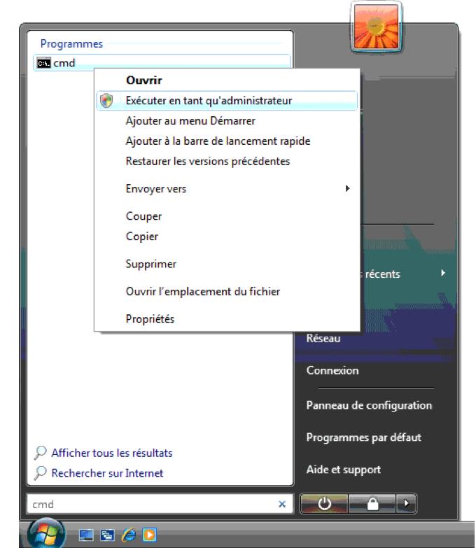Invite de commande sous Windows