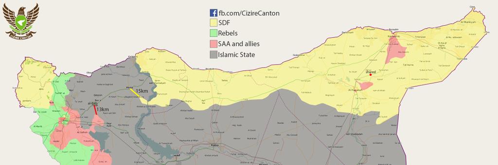 Situation au Rojava au 6 janvier 2016