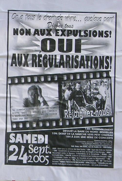 Tract en solidarité avec Semira Adamu