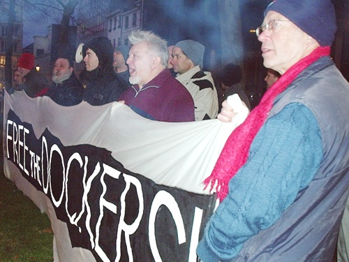 Manifestation pour les dockers