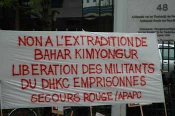 Rassemblement devant l'ambassade des Pays-Bas à Bruxelles
