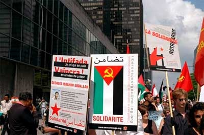Manifestation contre la guerre au Liban