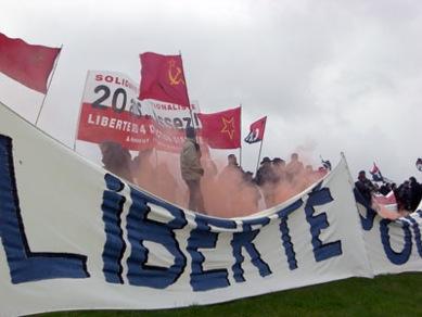 Manifestation à Bapaume pour Action Directe