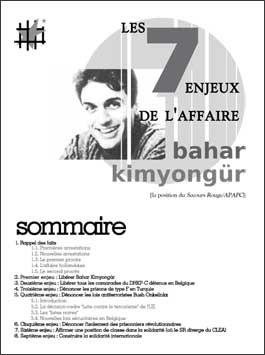 Jaquette de la brochure sur Bahar Kimyongür