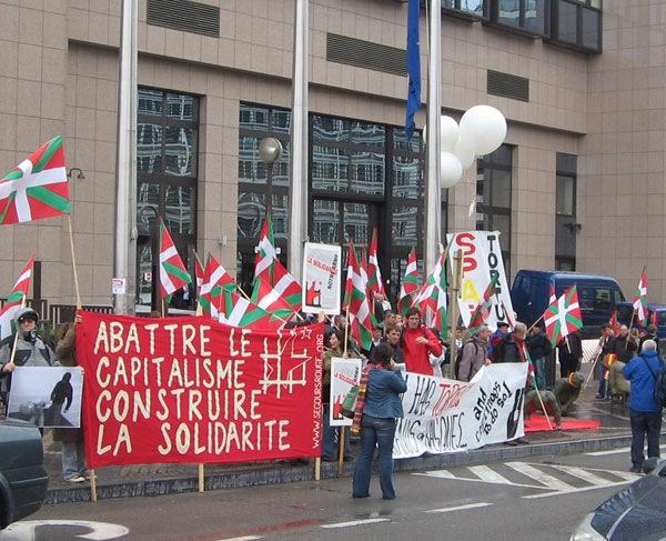 Rassemblement au Quartier Européen