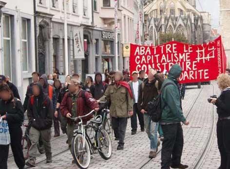 Manif à Gand pour les 4 de Aachen