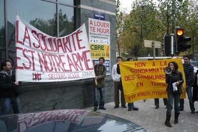 Manifestation pour les proches du MLKP