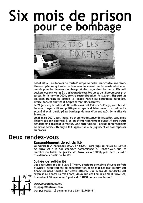 Tract pour Thierry Delforge