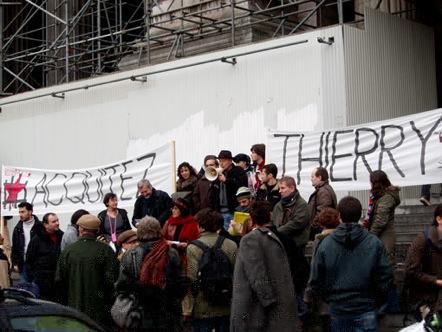 Rassemblement pour Thierry Delforge