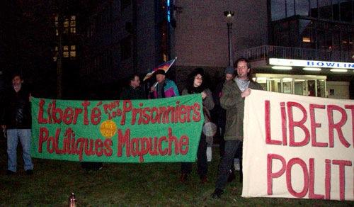 Rassemblement pour les prisonniers chiliens