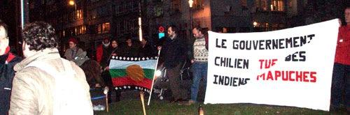 Manifestation pour les chiliens