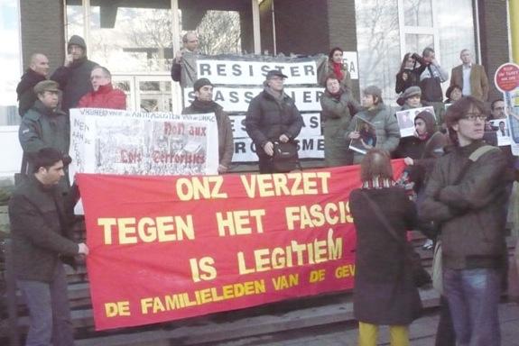 Rassemblement pour la dernière audience à Anvers