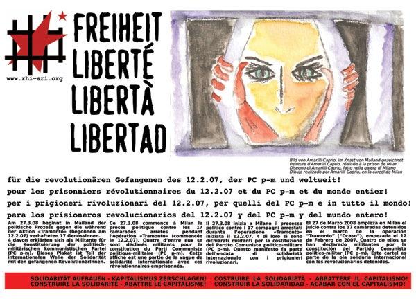 Solidarité avec les grévistes de la faim