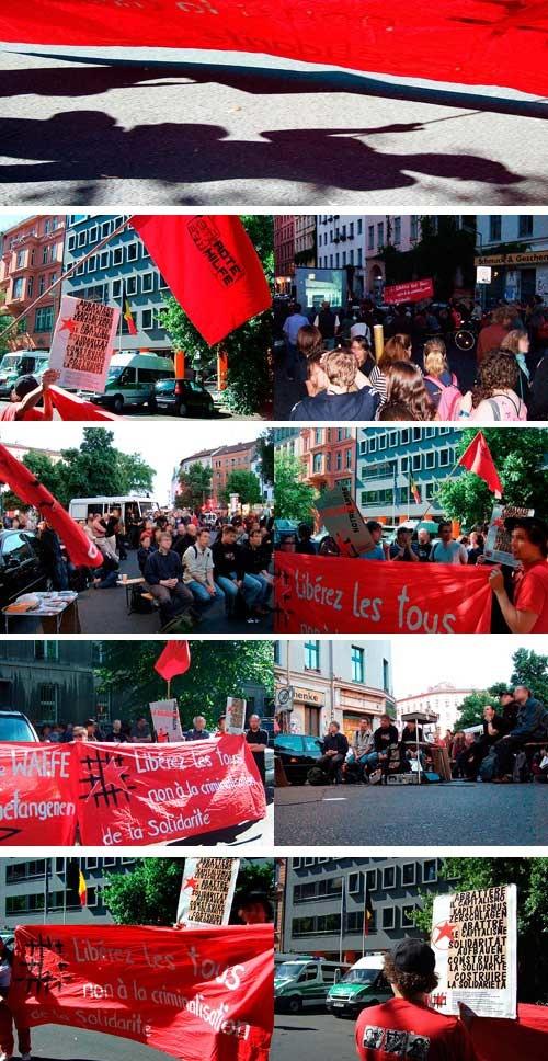 Rassemblement de solidarité en Allemagne