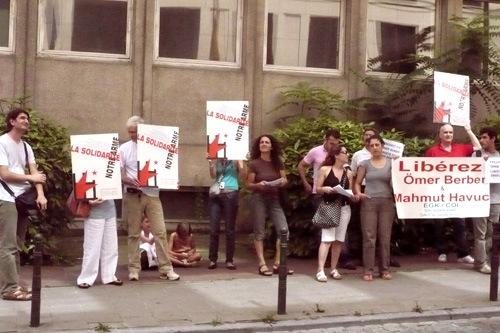 Manifestation de soutien à Omer Berber