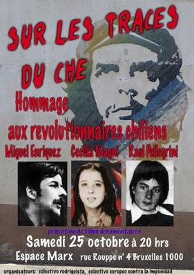 Affiche pour le meeting des prisonniers chiliens