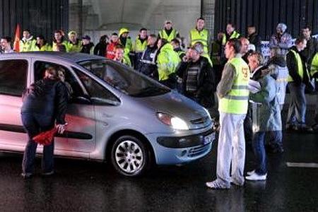 Manifestation chez Renault