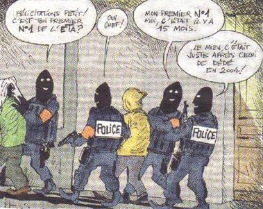 Caricature des arrestations basques