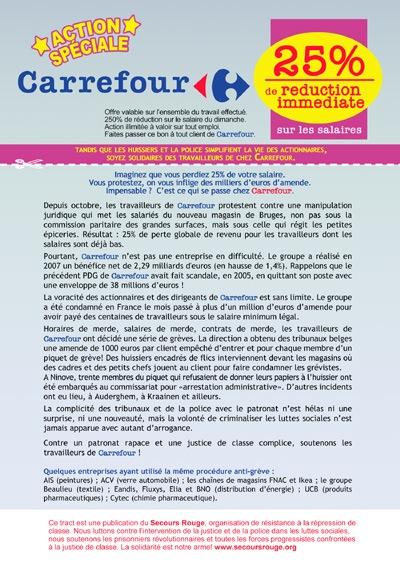 Affichette pour Carrefour