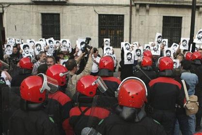 Manifestation de la gauche basque