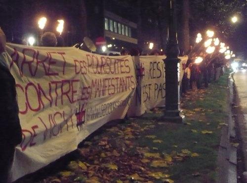 Calicot du SR pour les manifestants de Vichy