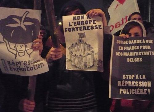 Rassemblement pour les manifestants de Vichy