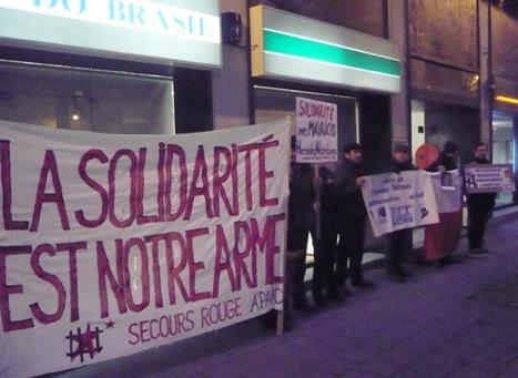 Manifestation pour Hernandez Norambuena