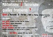 Affiche de la soirée sur l'anti-terrorisme