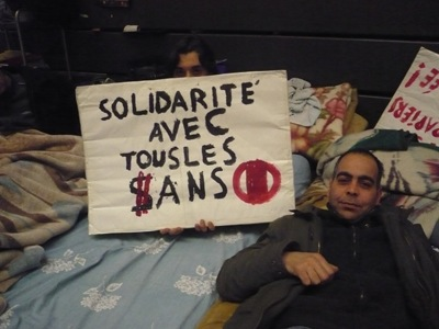 Occupation des sans-papiers à l'ULB