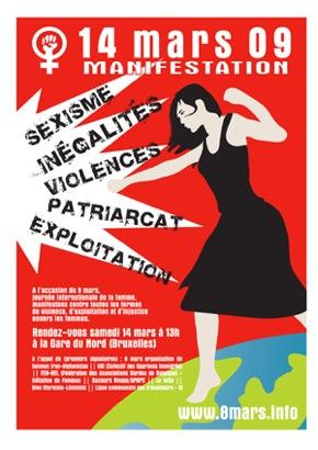 Affichette pour le 8 mars