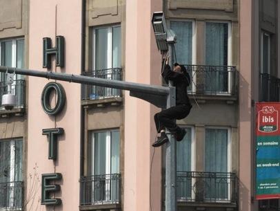 Action contre les caméras à Strasbourg