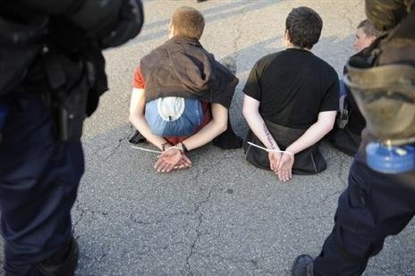 Arrestation à la manifestation de Strasbourg