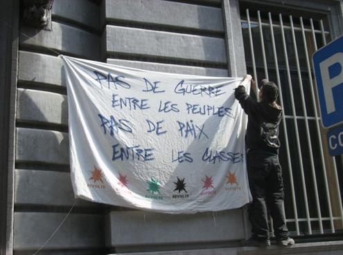 Rassemblement à Liège contre la répression à Strasbourg