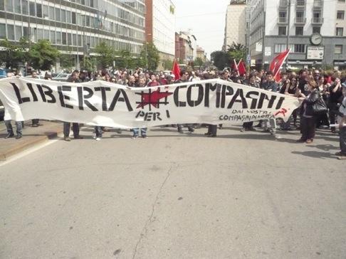 Manifestation à Milan