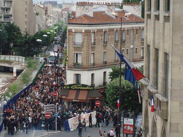 Manifestation à Montreuil