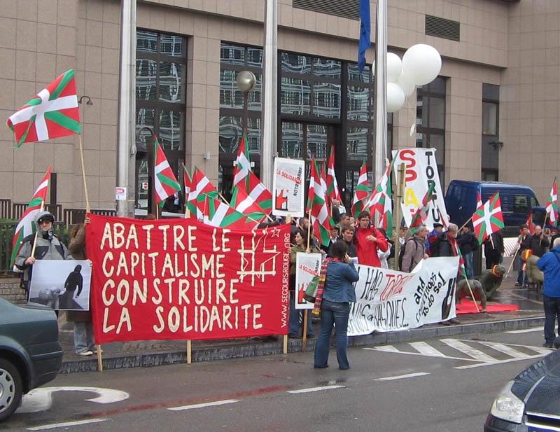 Devant le siège de l'Union Européenne le 4 juin 2007