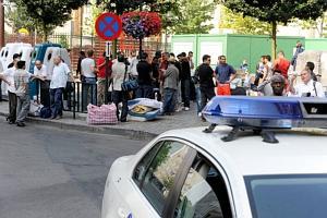 Expulsion de sans-papiers rue Dansaert