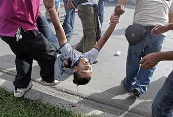 Répression d'une manifestation au Honduras