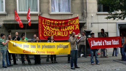 Manifestation pour Yasar Ildan