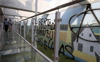 Action de solidarité avec Casellas