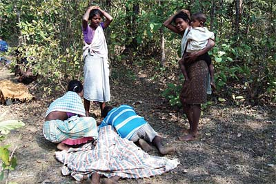 Villageois victime de la contre-guérilla