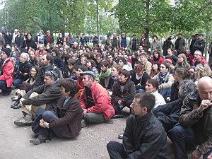 Manifestation de soutien à Poitiers