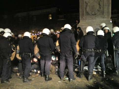 Répression contre la manifestation anti-squatt