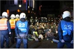 Manifestation antifa à Gand