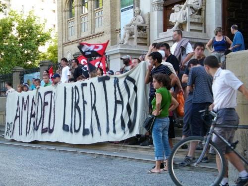 Rassemblement de solidarité avec Casellas